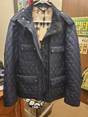 Men's Burberry Quilted Jacket for Sale in Ceres, CA