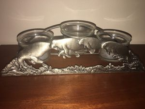 Manatee Silver Metal Candle Holder Decor for Sale in Coral Springs, FL