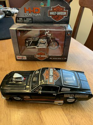 Harley Davidson die cast car (used) & motorcycle (new) for Sale in Sacramento, CA