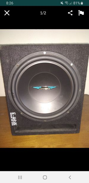 12 inch subwoofer with amplifier for Sale in Turlock, CA