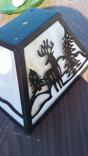 $20 Lighting Shade: Elk, Pine, and Snow = NEGOTIABLE is NOT Free for Sale in Miami Lakes, FL