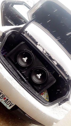 "12"" JL Audio SubWoofers / Front doorJL Audio Speakers/ Kenwood Amp (Still under warranty) for Sale in Webster Groves, MO"
