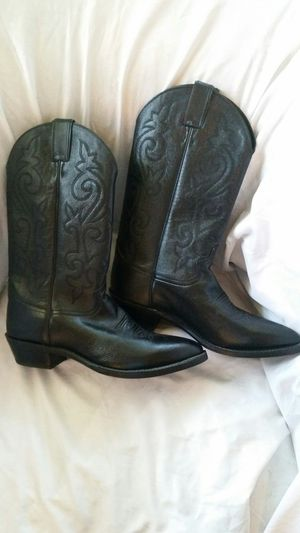JUSTIN BOOT COMPANY COWBOY WESTERN BOOTS MENS SIZE 10 WORK FARM RANCH DANCING LEATHER for Sale in Rancho Cucamonga, CA