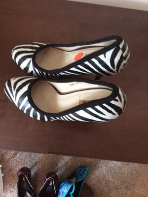 Shoes dressed with African materiel for Sale in Bellefonte, PA