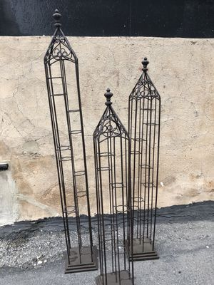 Rod Iron indoor/outdoor candle holder stands (see description for exact prices!) for Sale in Chicago, IL