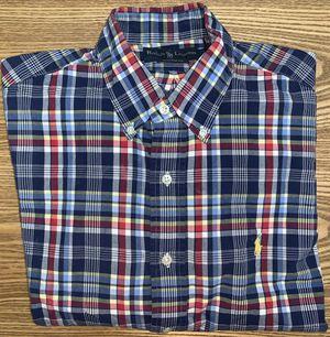 Ralph Lauren Men's Blue Plaid Button Down Dress Shirt Medium for Sale in Grand Rapids, MI