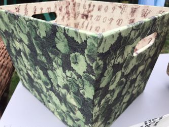 LOT of like new / new with tags green desk organizing planter houseplant baskets tins + VELVET CURTAINS for Sale in Snohomish,  WA