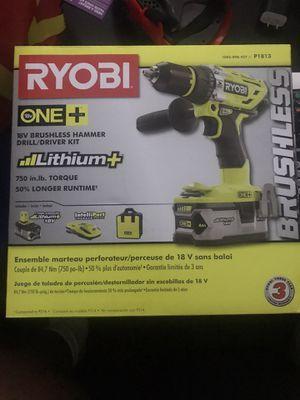 RYOBI ONE 18V BRUSHLESS HAMMER DRILL for Sale in Hyattsville, MD