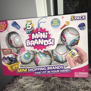 Zuru 5 Surprise Mini Brands Series 1 Balls Sealed 5pk with 100+ Mini Brands to Collect for Sale in Lawndale, CA