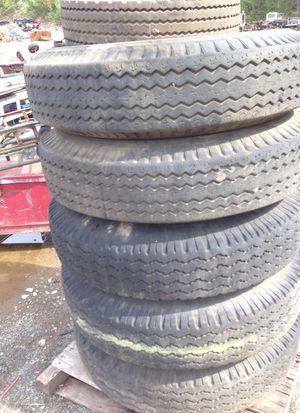10r22 truck tires on open rims semi trailer commercial truck for Sale in Bethlehem, PA
