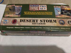 Vintage desert Storm complete set cards for Sale in Keokuk, IA