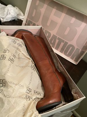 BCBG 8.5 Cognac Leather Knee Boots for Sale in Washington, DC