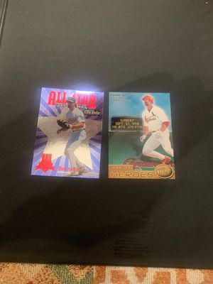 2 mike McGwire baseball cards for Sale in Spartanburg, SC