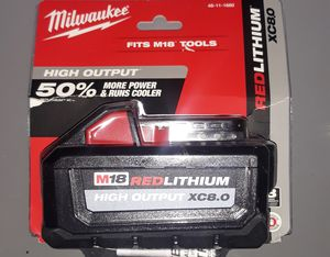 Milwaukee Red lithium high output xc8.0 battery for Sale in Wichita, KS