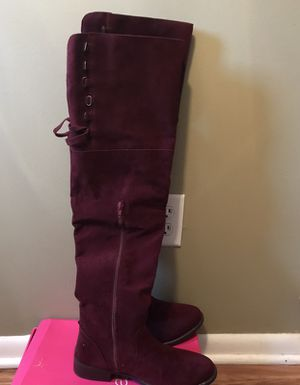 Maroon thigh high boots for Sale in Columbus, OH