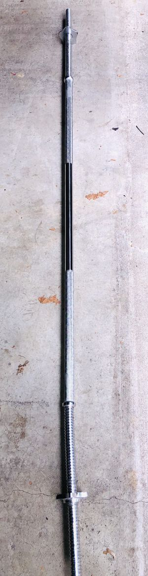 Steel Weight Bar with Steel Collars for Sale in Washington Grove, MD