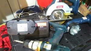 Ryobi 5piece set... Drill, flash lite and circular saw... for Sale in Detroit, MI