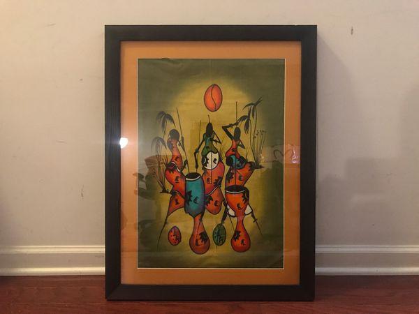 Original African Batik Custom Framed