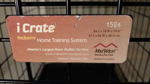 Icrate 1524 folding 24 inch dog crate for puppies and toy breeds for Sale in Columbus, OH