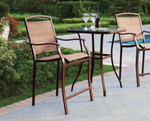 New!! 3 pc counter height patio set, patio set, outdoor conversation set, chat set, patio furniture , tan for Sale in Phoenix, AZ