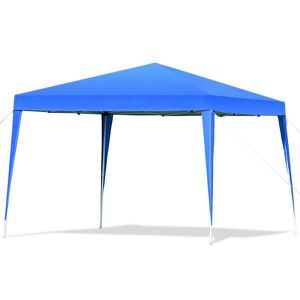 118 in. x 118 in. Blue Pop-up Canopy Tent Wedding Party Shelter with Carry Bag for Sale in El Monte, CA