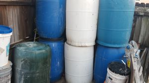 plastic barrels for Sale in Daytona Beach, FL