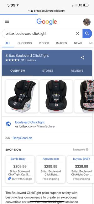 Britax Boulevard Clicktight Baby Car seat for Sale in Wabash, IN