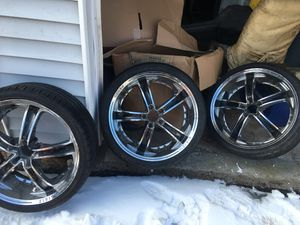Set of Only 3 Zinik Z24 Risso Black rims for Sale in Cumberland, RI