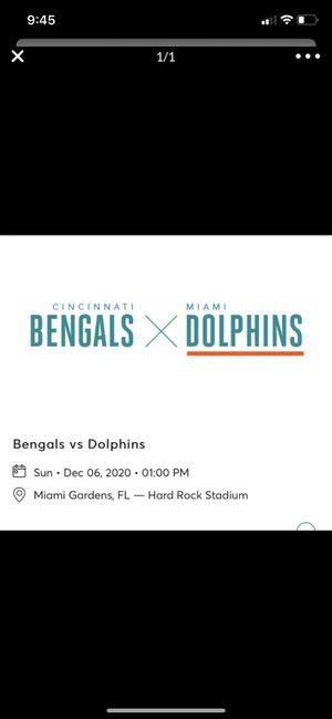 Miami Dolphins vs Cincinnati bengals tickets for Sale in Miami, FL