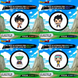 FUNKO POP DBZ/DBS Autograph Preorder with JSA for Sale in Santa Ana, CA