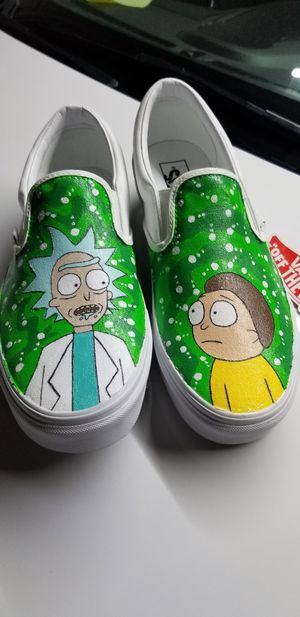 Rick and Morty Customized Vans! Size 10.5 for Sale in Houston, TX