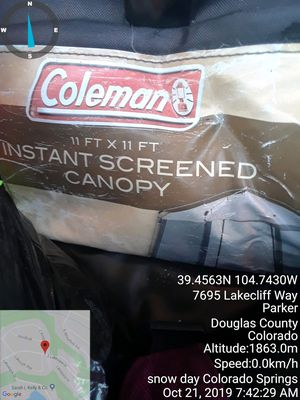 Coleman 11x11 instant canopy for Sale in Manitou Springs, CO