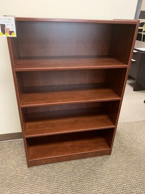 Heavy duty cherry bookcase for Sale in Tigard, OR