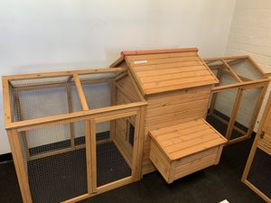 Lovupet 108'' Chicken Coop Wood Hutch Poultry Hen House Nesting Box Backyard Run 0319 for Sale in Commerce, CA