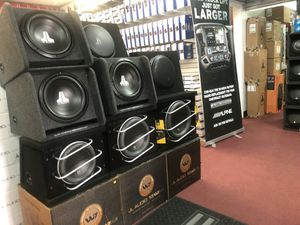 JL Audio subwoofer speakers amplifiers on sale today guaranteed lowest prices in LA for Sale in Los Angeles, CA