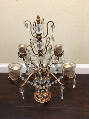 Gold Chandelier and Candle Holder Stand for Sale in Long Beach, CA