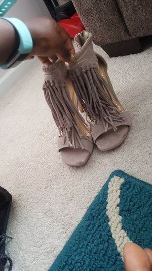 Classy Taupe Fringe Heels for Sale in Nashville, TN