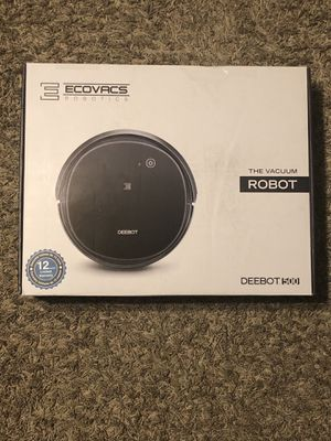Eecovacs Robotics Robot Vacuum, Debot 500, Charging Station, Power Cord, Remote, Cleaning Brush for Sale in Chandler, AZ