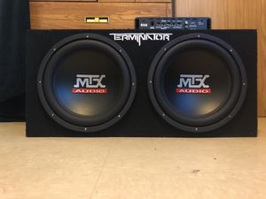 Mtx 1200 watt 12 inch subwoofers boss audio 1100 watt amp for Sale in Lorton, VA