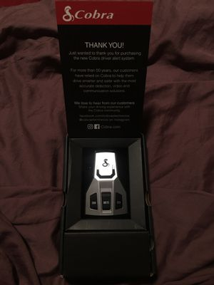Cobra Radar Detector for Sale in Dallas, TX