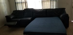 Sofa sleeper with 1 recliner for Sale in Clearwater, FL