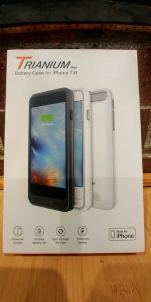 Trianium iPhone 7/8 Atomic Pro Battery Case - 3200mAh for Sale in Rochester Hills, MI