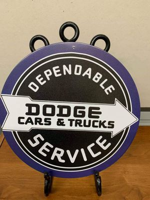 Dependable Dodge service tin sign for Sale in Lakeland, FL