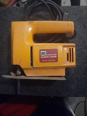JIG SAW McGraw - Edison Double Insulated Saber Saw for Sale in Phoenix, AZ