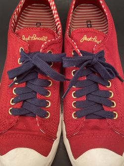 Converse Jack Purcell Ox Low Top Red Sneakers Size 9.5 Women's for Sale in Norman,  OK