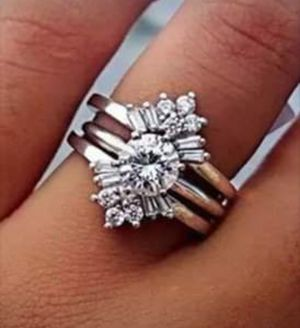 $10 new size 6 7 8 or 9 silver plated CZ ring for Sale in Eureka, MO