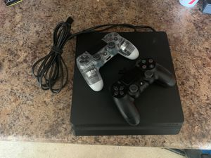 Sony PS4 Slim w/ 2 DualShock 4 controllers for Sale in Norfolk, VA