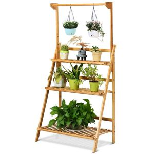 Bamboo Plant Stand Planter Shelf Garden Area Shelves Display Modern Home Decor for Sale in Chicago, IL