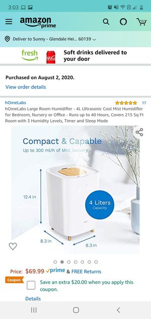 Humidifier for Sale in Glendale Heights, IL