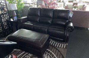 GENUINE LEATHER POWER RECLINING SOFA for Sale in Bensalem, PA